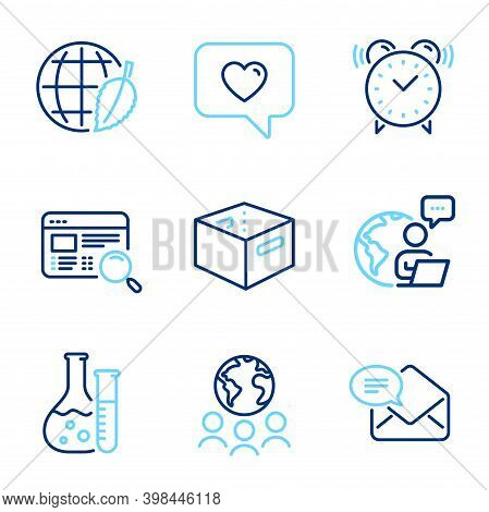 Technology Icons Set. Included Icon As Environment Day, New Mail, Website Search Signs. Office Box,