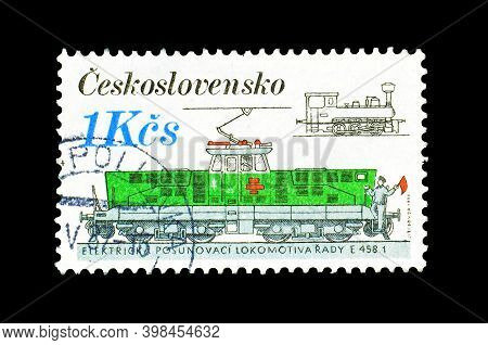 Czechoslovakia - Circa 1986 : Cancelled Postage Stamp Printed By Czechoslovakia, That Shows Electric