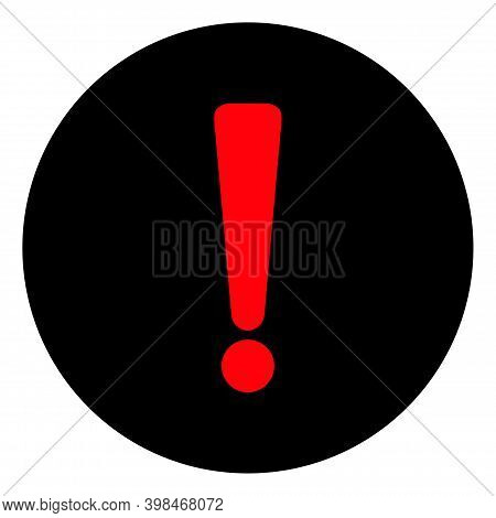 Danger Exclamation Icon With Flat Style. Isolated Vector Danger Exclamation Icon Image On A White Ba