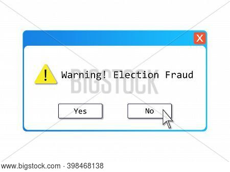 An Election Fraud Text Illustration About Those Who Don't Believe The Alleged Election Controversy R