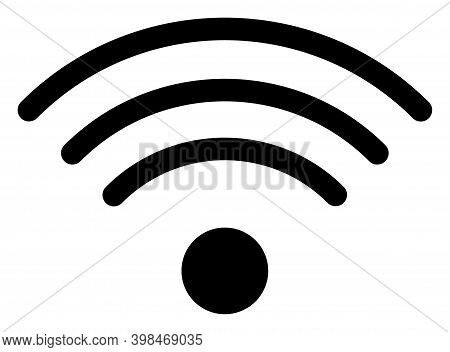 Wi-fi Source Icon With Flat Style. Isolated Raster Wi-fi Source Icon Image On A White Background.