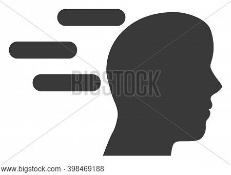 Rush Mind Icon With Flat Style. Isolated Raster Rush Mind Icon Image On A White Background.