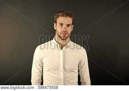 Look More Handsome And Attractive. Handsome Man Isolated On White. Handsome Look Of Young Guy. Mens