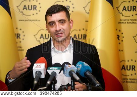 Bucharest, Romania - December 17, 2020: George Simion, Co-president Of Alliance For Romanians Unific