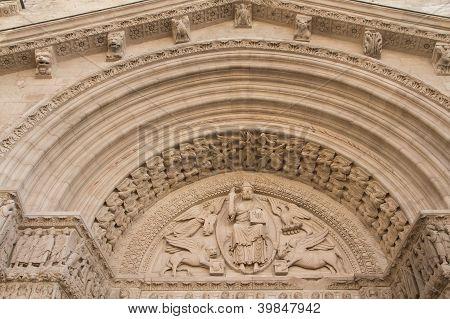 St Trophime Portal Detail (arles, France). Horizontally.