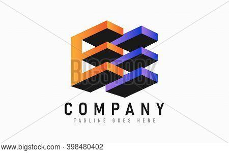 Modern 3d Initial Letter E Logo Design. Abstract Logo Design Usable For Modern Shield Logo Design. A