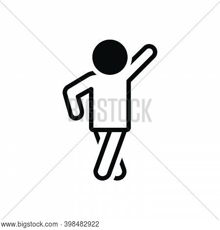 Black Solid Icon For Pose Man Modern Human Person Style Photo-shoot Posture Position Stance Attitude