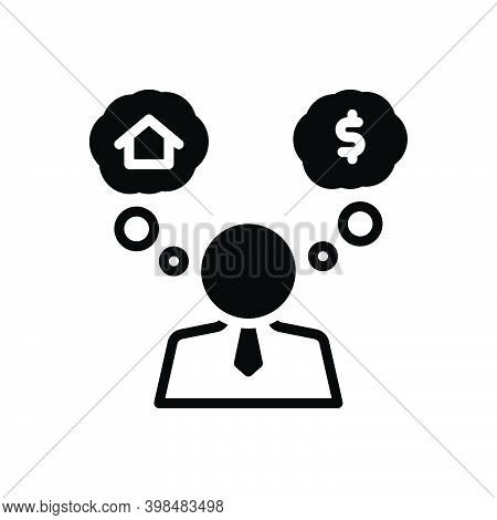 Black Solid Icon For Assume Suppose Consider Guess Think Imagine Fancy Dream-up Brainstorm Envisage