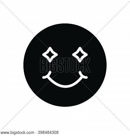 Black Solid Icon For Smile Laugh Smirk Simper Sneer Grin Deride Jest Emoji Happy Joy