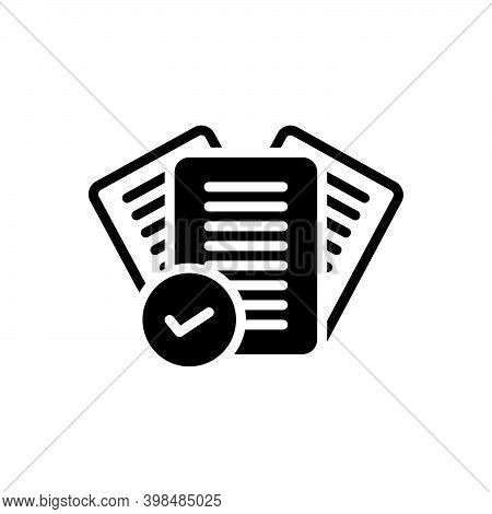 Black Solid Icon For Right Correct Mark Check Tick Agreement Approved Checklist Yes True