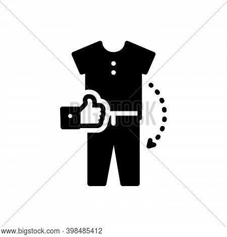 Black Solid Icon For Combination Amalgamation Amalgam Mixture Accessories Apparel Garment Clothe Des
