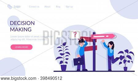 Decision Making Flat Concept Vector. Rational Approach, Business Management. Problem Solving Skill,