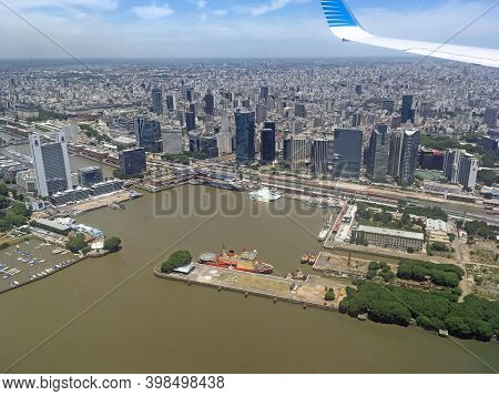 Buenos Aires, Argentina - 23 Dec 2019: The View Of Buenos Aires City, Argentina