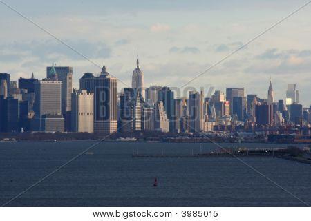 New York Harbor und Manhatten skyline