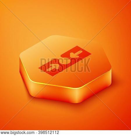 Isometric Acne Icon Isolated On Orange Background. Inflamed Pimple On The Skin. The Sebum In The Clo