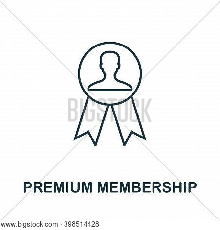 Premium Membership Icon. Line Style Element From Loyalty Program Collection. Thin Premium Membership
