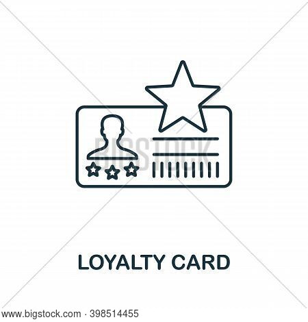 Loyalty Card Icon. Line Style Element From Loyalty Program Collection. Thin Loyalty Card Icon For Te