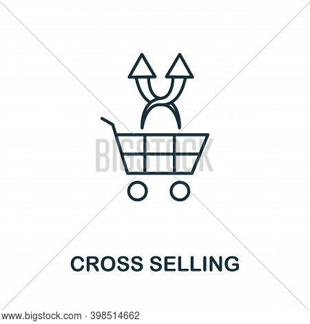 Cross Selling Icon. Line Style Element From Loyalty Program Collection. Thin Cross Selling Icon For