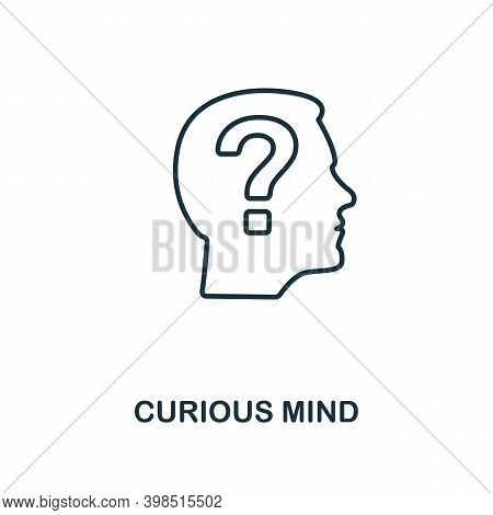 Curious Mind Icon. Line Style Element From Personality Collection. Thin Curious Mind Icon For Templa
