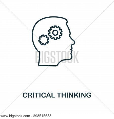 Critical Thinking Icon. Line Style Element From Personality Collection. Thin Critical Thinking Icon