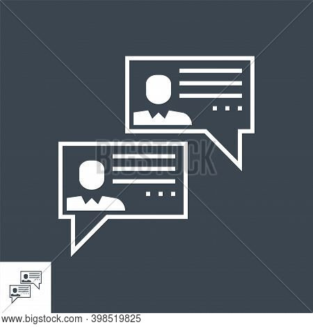 Social Chanels Related Vector Glyph Icon. Isolated On Black Background. Vector Illustration.