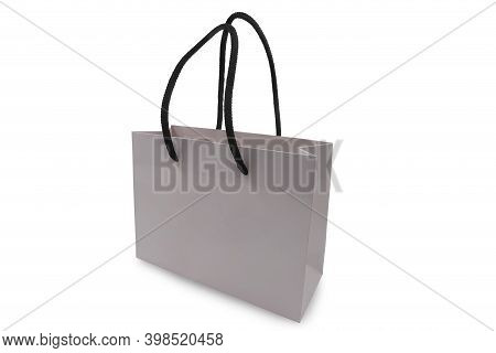 Empty Shopping Bag Isolated On White Background