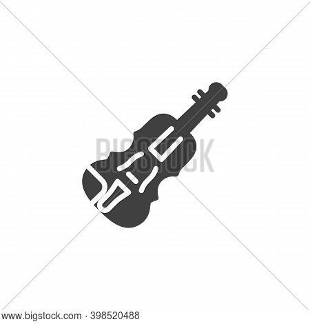 Viola, Double Bass Vector Icon. Filled Flat Sign For Mobile Concept And Web Design. Cello, Violin Mu