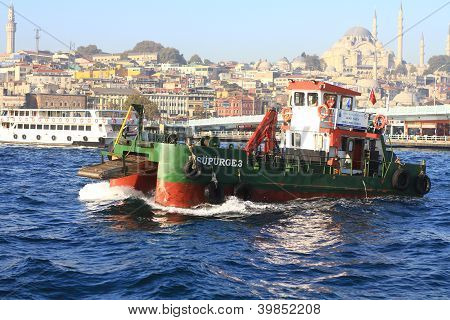 Water cleaning boat, Supurge