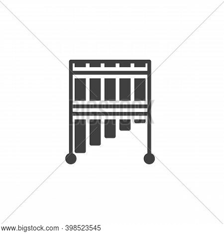 Bar Chimes Music Instrument Vector Icon. Filled Flat Sign For Mobile Concept And Web Design. Mark Tr