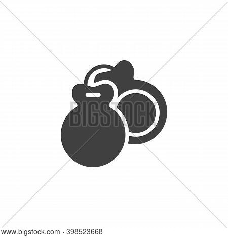 Castanets Musical Instrument Vector Icon. Filled Flat Sign For Mobile Concept And Web Design. Spanis