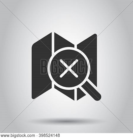 Search Location Icon In Flat Style. Gps Navigation Vector Illustration On White Isolated Background.