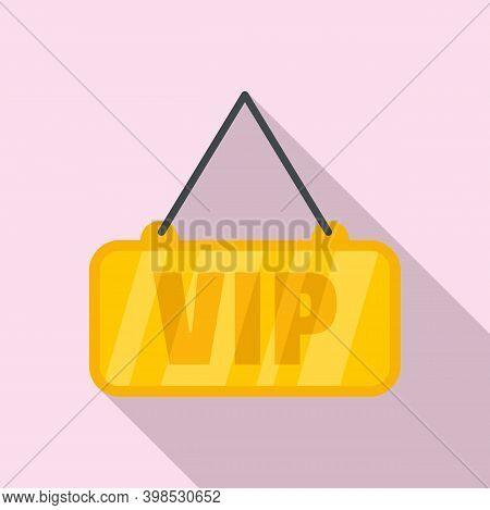 Room Service Vip Icon. Flat Illustration Of Room Service Vip Vector Icon For Web Design