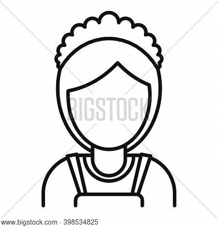 Room Service Maid Woman Icon. Outline Room Service Maid Woman Vector Icon For Web Design Isolated On