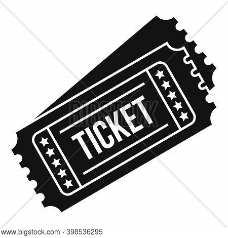 Cinema Tickets Icon. Simple Illustration Of Cinema Tickets Vector Icon For Web Design Isolated On Wh