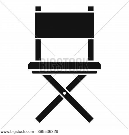 Stage Director Chair Icon. Simple Illustration Of Stage Director Chair Vector Icon For Web Design Is