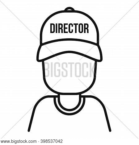 Stage Director Icon. Outline Stage Director Vector Icon For Web Design Isolated On White Background
