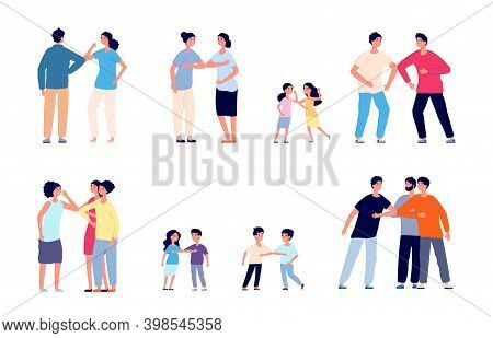 Greeting Bumping Elbows. Physical Social Distance, Friends Non Touch Contacts. Protection Lifestyle