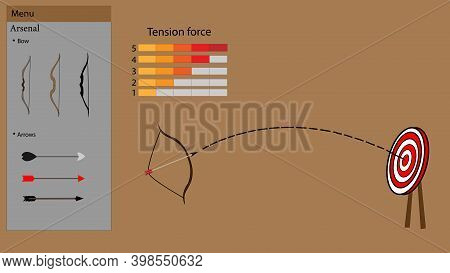 A Model Of Archery Game With Different Tension Levels And Different Levels Of Combat Arsenal. Collec