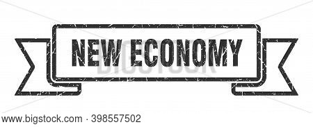 New Economy Ribbon. New Economy Grunge Band Sign. New Economy Banner