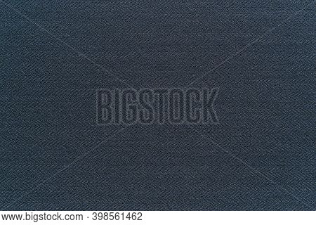 Dark Gray Blue Texture Close-up Knitted Or Woolly Fabric For Background Or Wallpaper