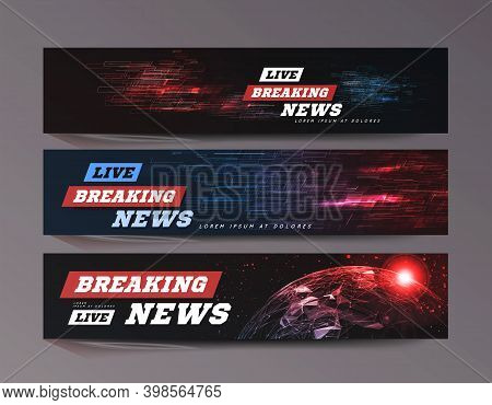 Live Breaking News. Sport Bews Bacjground Can Be Used As Design For Television News Or Internet Medi