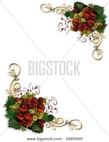 Christmas Ornament Corners