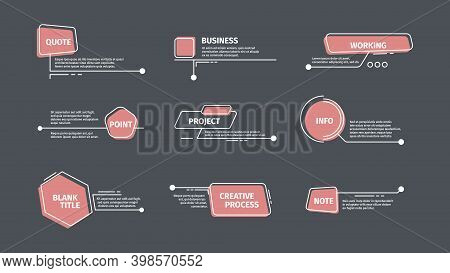 Callouts. Chat Communication Text Bars Digital Arrows Callouts Boxes Vector Templates. Illustration