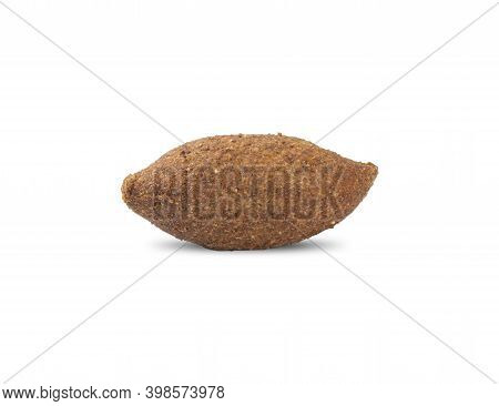 Traditional Arabic Fried Kibbeh Isolated Over White Background. Typical Brazilian Snack.