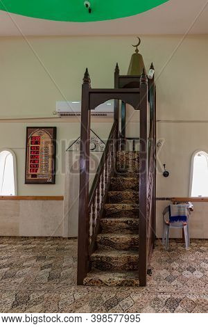 Nazareth, Israel, December 05, 2020 : The Place For The Imam To Say Prayers In The Mosque Building I