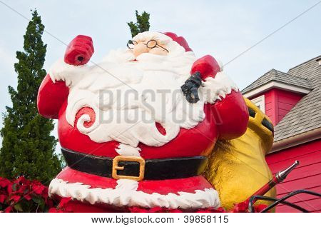 Santa Claus on Christmas day