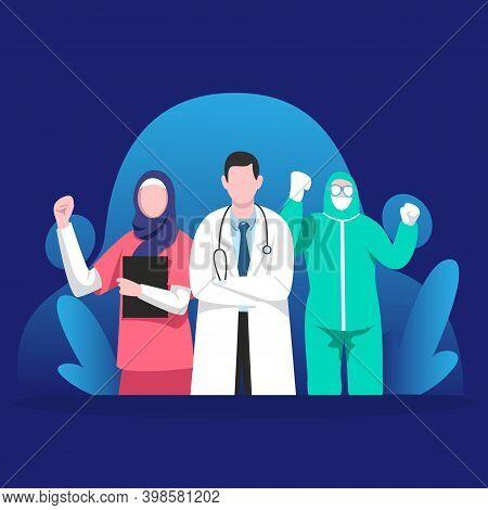 Medical Doctors Squad Vector Illustration Concept, Thank You Doctors And Nurses, Medical Doctors, Do
