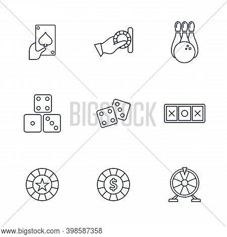 Casino Icon Logo Vector Template, Creative Gambling Design Icon Symbol Illustration, Casino Games Ic