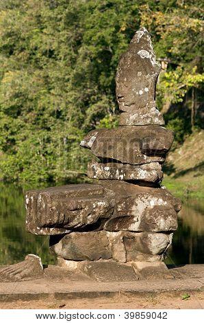 Fragment of a Khmer sculpture
