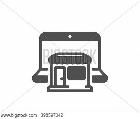 Marketplace Icon. Online Shop Sign. Retail Store Symbol. Quality Design Element. Flat Style Marketpl